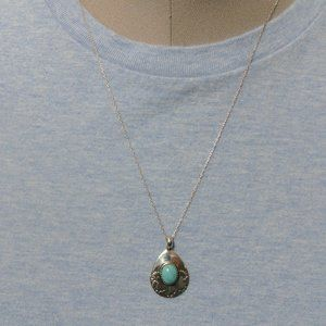 Very Pretty Sterling Turquoise Necklace